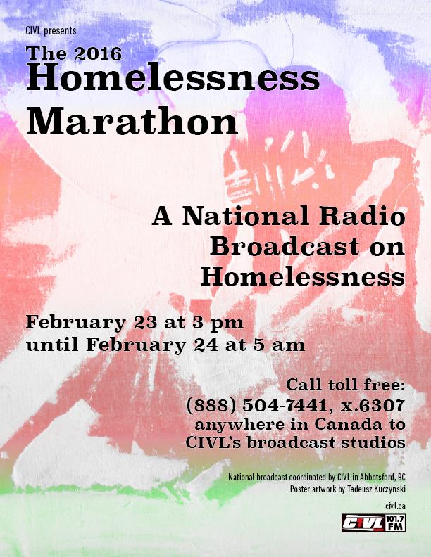 MST Homelessness Marathon poster